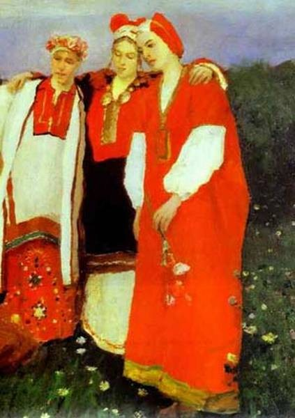 a nothern idyll detail 1886 the tretyakov gallery moscow russia